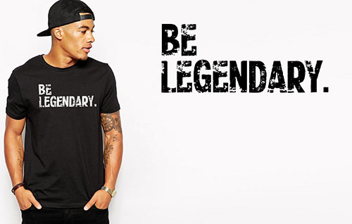 Fitnessfood T-Shirt BE LEGENDARY. - Order Now!