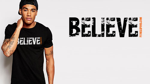 "T-Shirt ""BELIEVE"" - Order Now!"