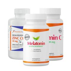 Fitnessfood Melatonin + Zinc Chelate + Vitamin C.
