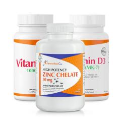 Vitamin C + Vitamin D3 & K2 (MK7) + Zinc Chelate