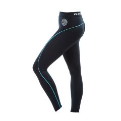 Ladies Long Gym Legging (Black/Turquoise). Jetzt bestellen!