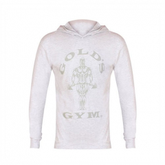 Gold's Gym Long Sleeve T-Shirt Hoodie (White). Jetzt bestellen!