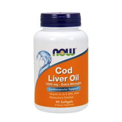 Cod Liver Oil Extra Strength 1000 mg von NOW Foods. Jetzt bestellen!